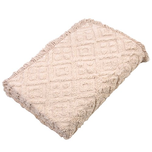 Stylemaster Diamond Tufted Chenille Bedspread, King, Ivory