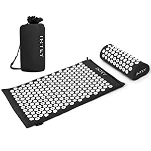 Gut Health Shop 51O6oDVG5OL._SS300_ INTEY Acupressure Mat and Pillow Massage Set Ideal for Back/Neck Pain Relief & Muscle Relaxation, Sleep Aid with…