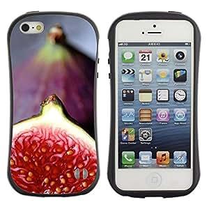 "Pulsar iFace Series Tpu silicona Carcasa Funda Case para Apple iPhone 5 / iPhone 5S , Rojo Tropical Fruit"""
