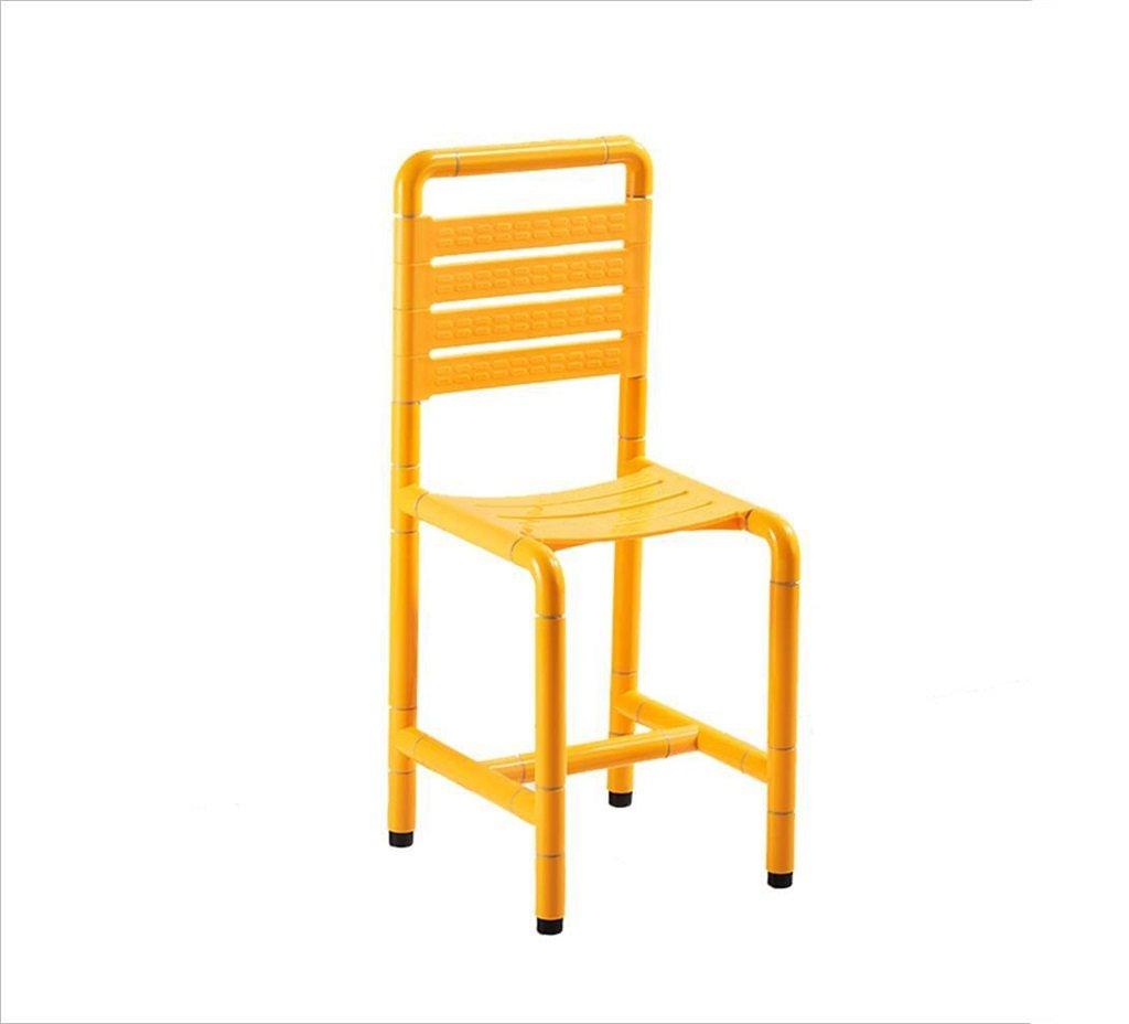シャワーチェアバスルームスツールバスルームスツール背もたれを持つ高齢者と大人のための障害者用スツールノンスリップ高品質のアルミニウム合金 B07F3VB345