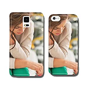 Stressed young woman in front of christmas tree cell phone cover case iPhone6 Plus