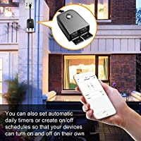 MOCREO C158 Smart Outdoor/Indoor Plug 2 independent switches,2 4 GZ Wi-Fi  Smart Outlet, easy to setup, Smartphone APP Remote Control, Timer,IP 55