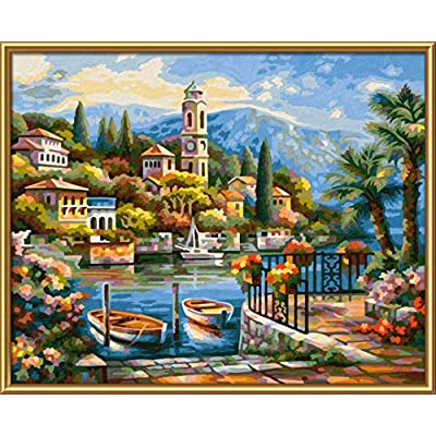 Schipper 609240798 Painting by Numbers 24 x 30 cm on Lake Como: Toys & Games