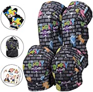 Simply Kids Soft Kids Knee and Elbow Pads with Bike Gloves   Toddler Protective Gear Set w/Mesh Bag& Stick