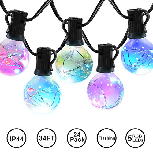 Led Color Changing Globe String Lights in US - 7
