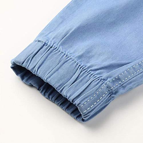 Cerniera Bobo Retro Skinny Pantaloni Distressed Fray Casual Especial Slim Denim Fashion Uomo Estilo Blau Da Jeans Ne Con Pants 88 q6rwR6X