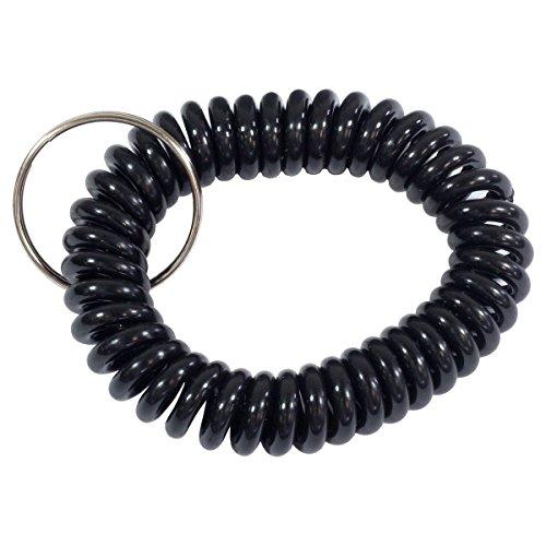 HTS 311C0 Black Wrist Coil with Split Ring (5 (Wrist Coil Key Holder)