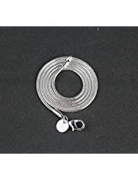 5 Pieces 925 sterling Silver 2mm Snake Chain necklace jewelry 18 Inch