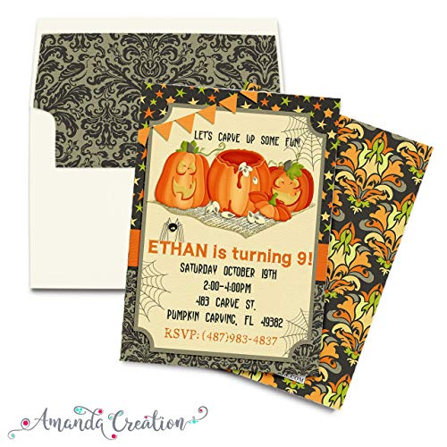 Pumpkin Carving Party Invitation]()