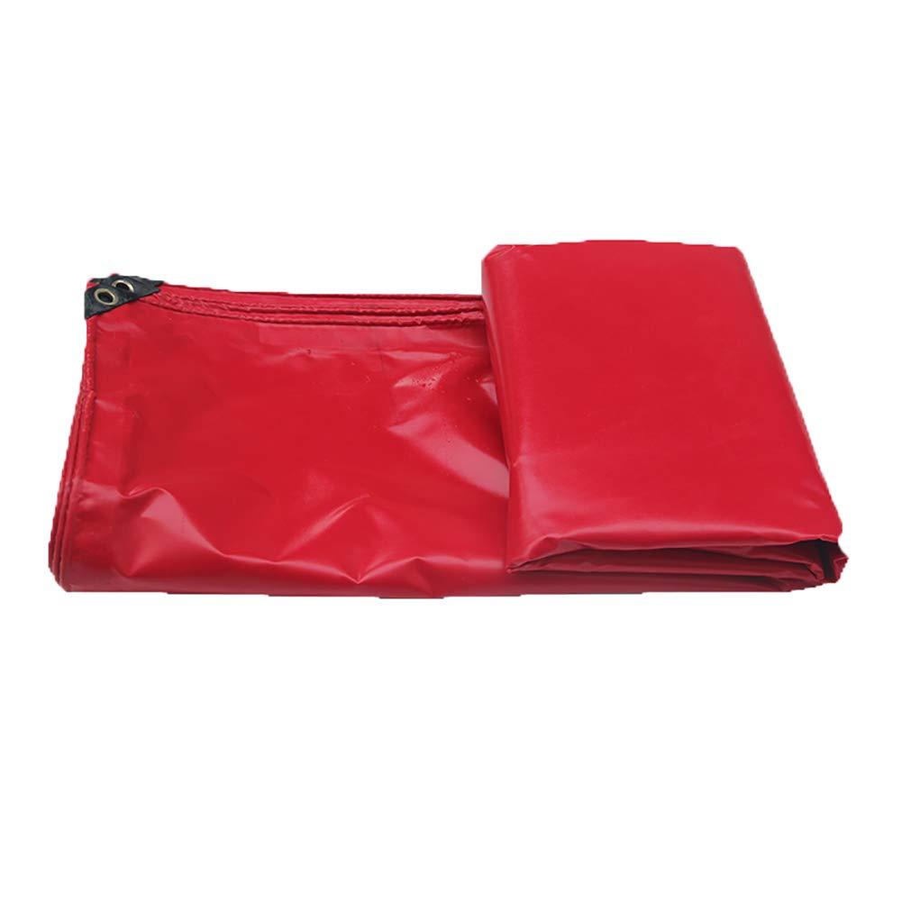 Plane Feier roter PVC-überzogener Stoff-Wasserdichte Segeltuch-Abdeckungs-Poncho-Sonnenschutz