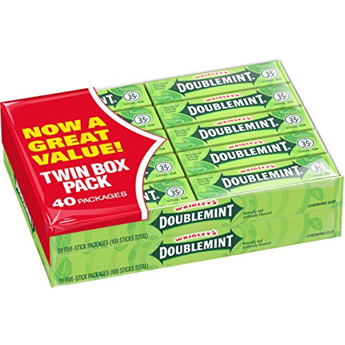 Wrigley's Doublemint Chewing Gum, 5-count (40 Packs) -