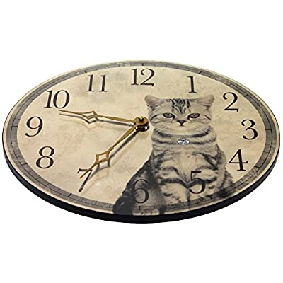 Infinity Instruments 15120 Purrfect Timing Beige: Home & Kitchen