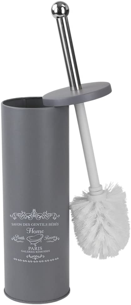 Home Basics Paris MATT Toilet Brush Holder, Grey