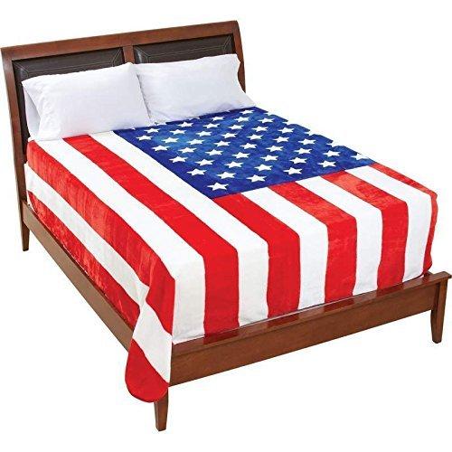 Be An American U.s.a Flag Blanket by Maxam B01IE7KSDE