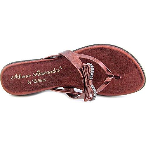 Athena Alexander - Sandalias de vestir para mujer rojo vino