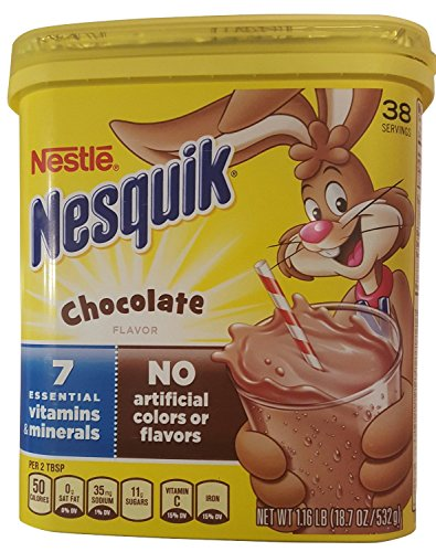 NesQuik Chocolate Powder Drink Mix, 18.7 Ounce (Pack of 2) Nesquik Chocolate Drink Mix