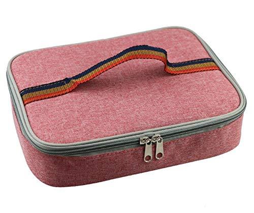 Extérieur Pour Oxford Sac Et rouge Tissu Travail Le Bellecita L'école À Lunch Portable Isolé En qZdwzIOT