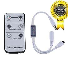 LEDMO Mini Remote Controller for Single Color LED Strip lights, Wireless IR Dimmer for 12 V DC LED Strips