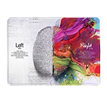 iCasso Mouse Pad,Non-Slip Rubber Base,Art Printed Pattern Mouse Mat with Stitched Edges,12.6 Inch*9.5 Inch (Left and Right Brain)