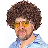 Brown Costume Afro Wig, Bob Ross Wig- for