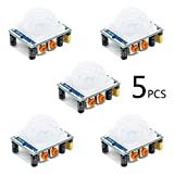 HC-SR501 Adjustable IR Pyroelectric Infrared PIR Motion Sensor Detector PID Modules for Arduino & Raspberry Pi Projects 5 Pairs
