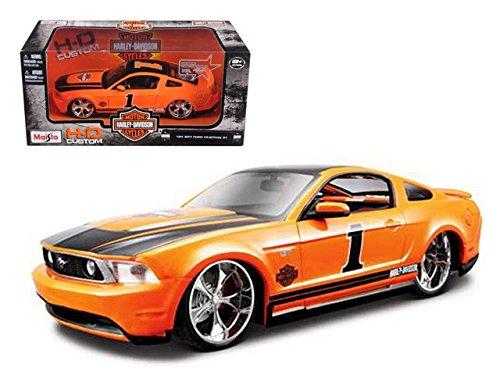 Ford Mustang GT Harley-Davidson #1, Orange - Maisto HD 32170 - 1/24 Scale Diecast Model Toy Car (Harley Davidson Toy Box)