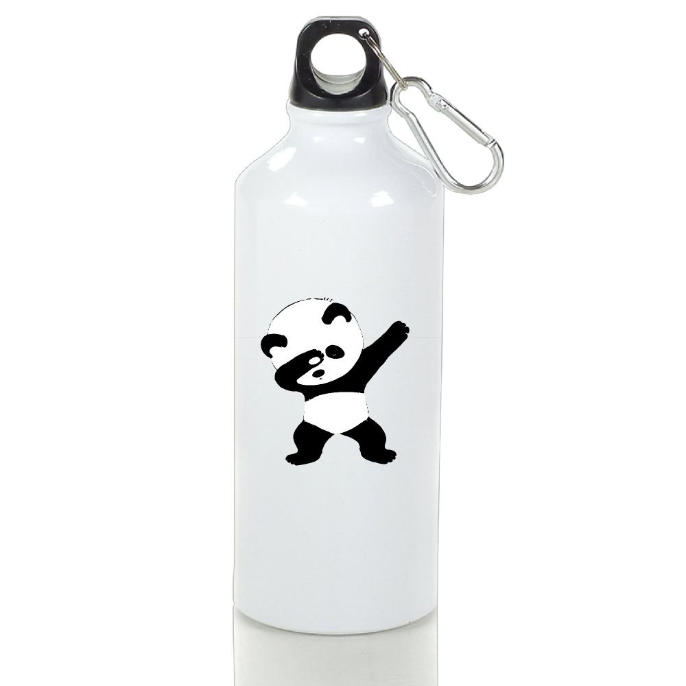 Wooun-6 Bicycle Aluminum Water Bottle Panda Dance Travel Water Bottle