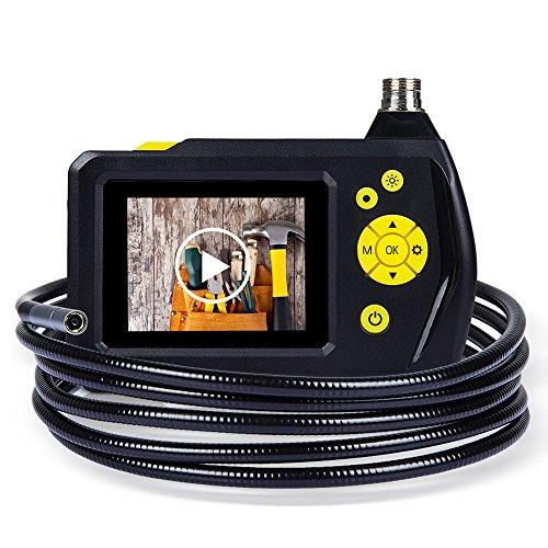 DBPOWER 2,7 Zoll Farb-LCD-Bildschirm Endoskop Inspection Schlange-Kamera mit 3M-Schlauch, der Zoom-Funktion, 360 Grad-Umdrehung und DVR Digital Video Recording