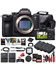 Sony Alpha a7R IV Mirrorless Digital Camera (Body Only) (ILCE7RM4/B) + 2 x 64GB Memory Card + 3 x NP-FZ-100 Battery + Corel Photo Software + Case + Card Reader + LED Light + More (Renewed)