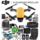 DJI Spark Portable Mini Drone Quadcopter Fly More Combo Bundles (Sunrise Yellow)
