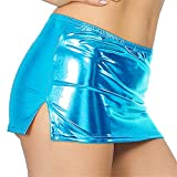 Underwear for Women Plus Size,Women Sexy Leather Underwear Lingerie Patent Leather Night Skirt Sexy,Women's Clothing,Sky Blue,One Size