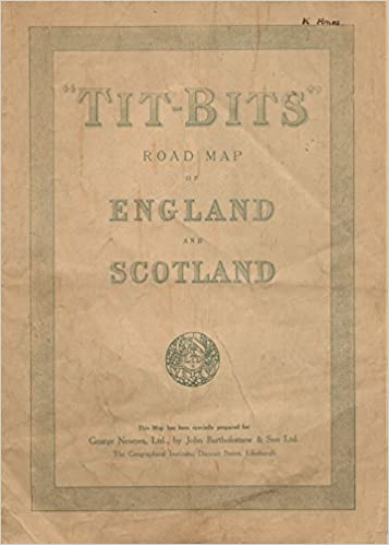Road Map Of England And Scotland.Tit Bits Road Map Of England And Scotland Ltd George Newnes