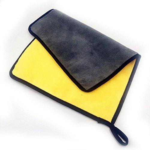 Yeefant Super Absorbent Car Wash Coral Velvet Towel Cleaning