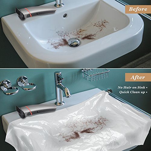 Amazon.com: AtHomeBarber® Disposable Plastic Sink Covers For Easy Clean Up  When Cutting Hair Over The Bathroom Sink: Health U0026 Personal Care
