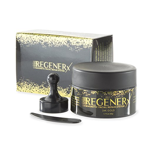REGENERx Magnet Face Mask 24k Gold (1.7oz) Anti-Aging Treatment, Magnetic Interactions Rejuvenate Skin & Promote Collagen; Cleanse Pores & Remove Impurities; Rich in Antioxidants & Minerals, K-Beauty