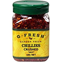 G-Fresh Chillies Crushed (Hot), 80 g