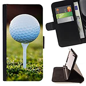 - Golf Ball Sport Tiger/ Personalizada del estilo del dise???¡Ào de la PU Caso de encargo del cuero del tir????n del soporte d - Cao - For Samsung Galaxy S6