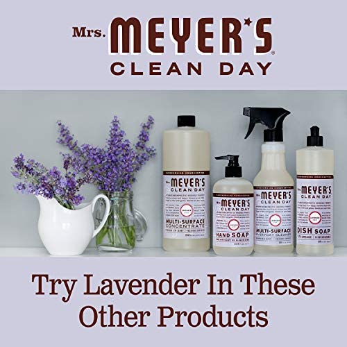 Mrs. Meyer's Clean Day Multi-Surface Everyday Cleaner, Cruelty Free Formula, Lavender Scent, 16 oz- Pack of three