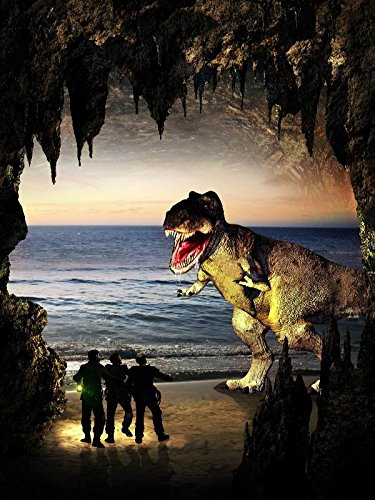 XXXL Poster 20 X 30 The Center Of The Earth, As Jules Vernes Described It In His Book Journey To The Center Of The Earth And The Three Adventurers Facing A Dinosaurt Rex (Journey To The Center Of The Earth 1960)