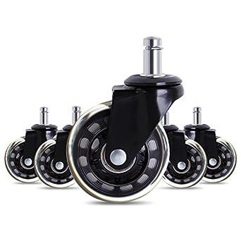Set de 5 ruedas giratorias de silla de oficina de 5,08 cm Pies de ruedas giratorias de repuesto para sillas de Antaprcis: Amazon.es: Amazon.es