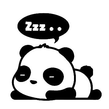 "1 pieza negro Cute Panda burbujas de dormir Zzz dibujos animados vinilo adhesivo 5 """