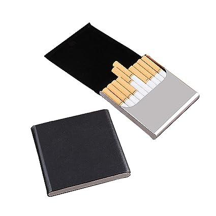 Caja para cigarrillos de acero inoxidable con capacidad para ...