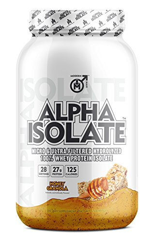 Alpha ISO – Whey Protein Isolate Powder Best Tasting 100 Grass Fed Whey Low Carb Protein Powder for Lean Muscle Building Weight Loss, Post Workout Supplement for Men, Honey Granola, 28 Sv