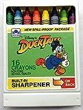 Vintage Duck Tales 16 Crayons w/Built-In Sharpener Disney / Golden Books
