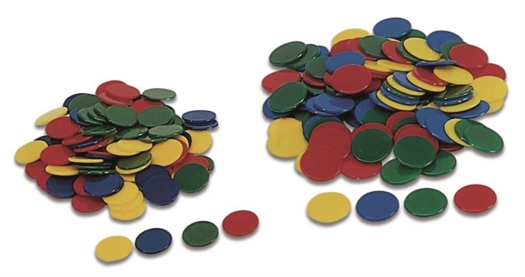 Cayro Beutel 100Chips 15mm, Mehrfarbig (9Farben) 150-9