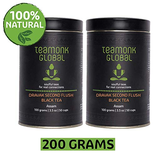 - Assam Black Tea, 7.oz - Pack of 2 (3.5oz each) | Dravak Second Flush Black Tea Supports Energy Boost | 100% Natural Whole Loose Leaf Black Tea | No Additives