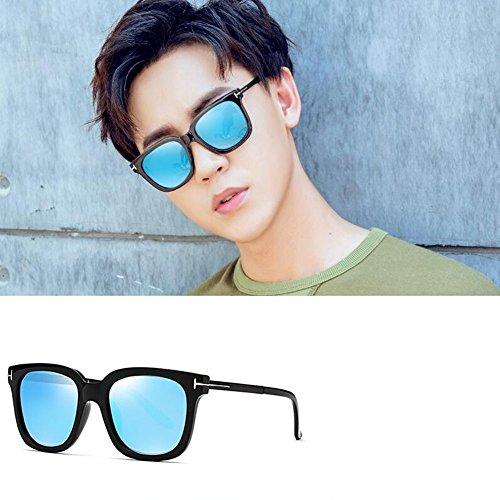 lenses Lunettes Soleil Hommes lenses Pour blue Mode Black Ice Neutre gray HONEY Personnalité De Couleur Polarisées 7AwUxEqqd