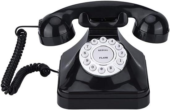 Shumo TeléFono Vintage TeléFono MultifuncióN para el Hogar TeléFono Retro Antiguo TeléFono Fijo con Cable TeléFono de Oficina TeléFono para el Hogar DecoracióN del Escritorio: Amazon.es: Electrónica