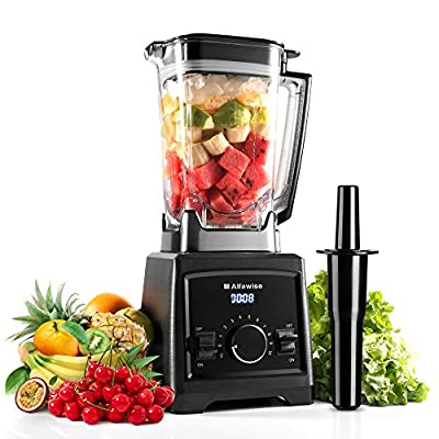 Alfawise Smoothie Blender, Commercial Blender,1450W Professional Smoothie Blender with 8 Sharp Stainless Steel Blades, Blender Food Processor Combo for Fruits, Ice, Vegetables, Smoothies and Shakes