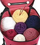 ArtBin Yarn Drum 6806SA Knitting and Crochet Tote, Raspberry